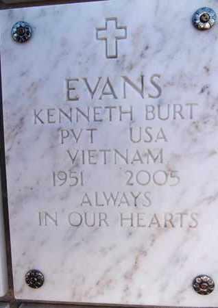 EVANS, KENNETH BURT - Yavapai County, Arizona | KENNETH BURT EVANS - Arizona Gravestone Photos
