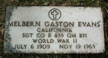 EVANS, MELBERN GASTON - Yavapai County, Arizona | MELBERN GASTON EVANS - Arizona Gravestone Photos
