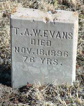 EVANS, T. A. W. - Yavapai County, Arizona   T. A. W. EVANS - Arizona Gravestone Photos