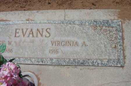 EVANS, VIRGINIA A. - Yavapai County, Arizona | VIRGINIA A. EVANS - Arizona Gravestone Photos