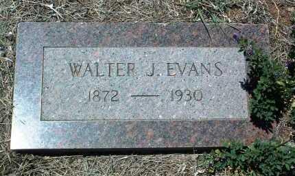 EVANS, WALTER J. - Yavapai County, Arizona | WALTER J. EVANS - Arizona Gravestone Photos