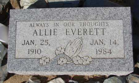 EVERETT, ALLIE - Yavapai County, Arizona | ALLIE EVERETT - Arizona Gravestone Photos