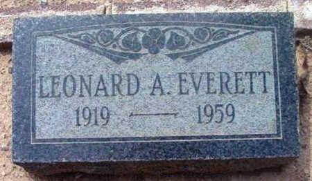 EVERETT, LEONARD A. - Yavapai County, Arizona | LEONARD A. EVERETT - Arizona Gravestone Photos