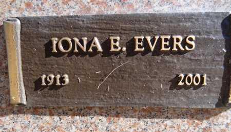 EVERS, IONA ELIZABETH - Yavapai County, Arizona   IONA ELIZABETH EVERS - Arizona Gravestone Photos