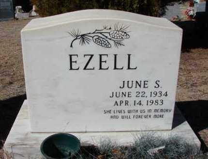 EZELL, JUNE S. - Yavapai County, Arizona | JUNE S. EZELL - Arizona Gravestone Photos
