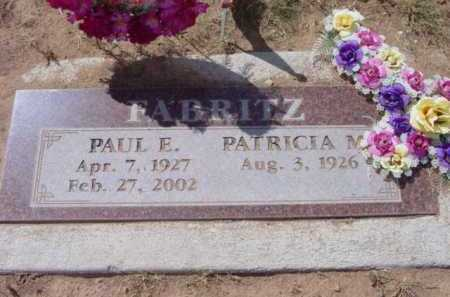 FABRITZ, PAUL E. - Yavapai County, Arizona | PAUL E. FABRITZ - Arizona Gravestone Photos
