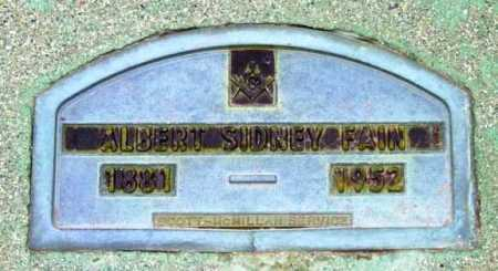 FAIN, ALBERT SIDNEY - Yavapai County, Arizona   ALBERT SIDNEY FAIN - Arizona Gravestone Photos