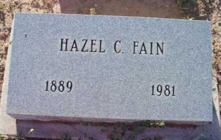 FAIN, HAZEL C. - Yavapai County, Arizona | HAZEL C. FAIN - Arizona Gravestone Photos