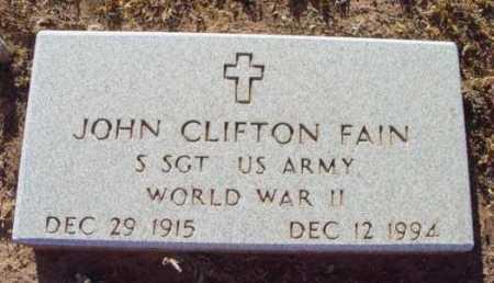 FAIN, JOHN CLIFTON - Yavapai County, Arizona | JOHN CLIFTON FAIN - Arizona Gravestone Photos