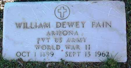 FAIN, WILLIAM DEWEY - Yavapai County, Arizona   WILLIAM DEWEY FAIN - Arizona Gravestone Photos