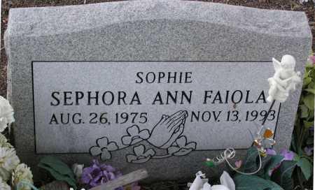 FAIOLA, SEPHORA ANN (SOPHIE) - Yavapai County, Arizona | SEPHORA ANN (SOPHIE) FAIOLA - Arizona Gravestone Photos