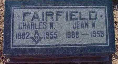 FAIRFIELD, CHARLES WILLIAM - Yavapai County, Arizona   CHARLES WILLIAM FAIRFIELD - Arizona Gravestone Photos