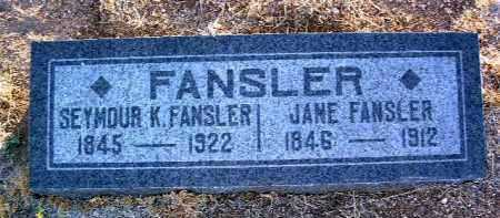 BLAIR FANSLER, JANE - Yavapai County, Arizona | JANE BLAIR FANSLER - Arizona Gravestone Photos