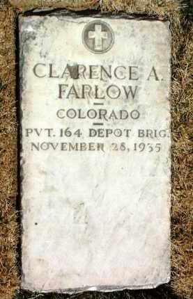 FARLOW, CLARENCE ALFRED - Yavapai County, Arizona | CLARENCE ALFRED FARLOW - Arizona Gravestone Photos
