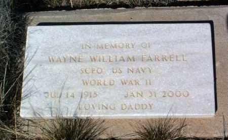 FARRELL, WAYNE WILLIAM - Yavapai County, Arizona | WAYNE WILLIAM FARRELL - Arizona Gravestone Photos