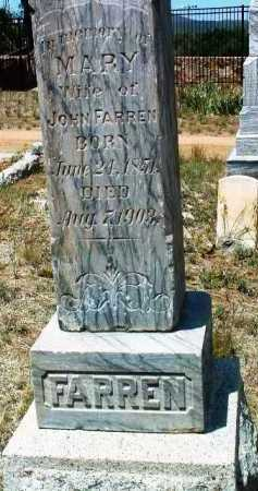 FARREN, MARY E. - Yavapai County, Arizona | MARY E. FARREN - Arizona Gravestone Photos