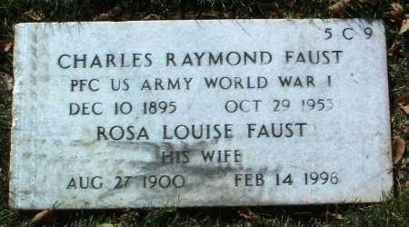 FAUST, CHARLES RAYMOND - Yavapai County, Arizona   CHARLES RAYMOND FAUST - Arizona Gravestone Photos