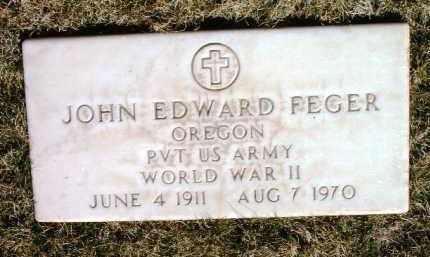 FEGER, JOHN EDWARD - Yavapai County, Arizona   JOHN EDWARD FEGER - Arizona Gravestone Photos