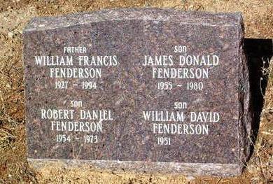 FENDERSON, JAMES DONALD - Yavapai County, Arizona | JAMES DONALD FENDERSON - Arizona Gravestone Photos