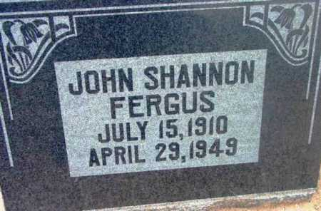 FERGUS, JOHN SHANNON - Yavapai County, Arizona   JOHN SHANNON FERGUS - Arizona Gravestone Photos