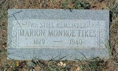 FIKES, MARION MONROE - Yavapai County, Arizona | MARION MONROE FIKES - Arizona Gravestone Photos