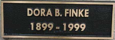 FINKE, DORA B. - Yavapai County, Arizona | DORA B. FINKE - Arizona Gravestone Photos