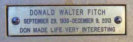 FITCH, DONALD WALTER - Yavapai County, Arizona   DONALD WALTER FITCH - Arizona Gravestone Photos