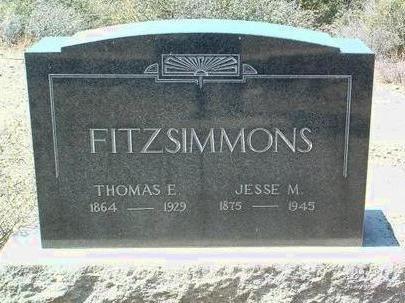 FITZSIMMONS, JESSE M. - Yavapai County, Arizona | JESSE M. FITZSIMMONS - Arizona Gravestone Photos