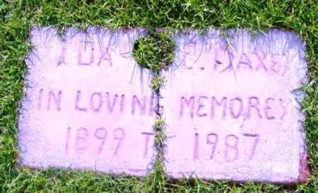 FLAXE, IDA E. - Yavapai County, Arizona | IDA E. FLAXE - Arizona Gravestone Photos