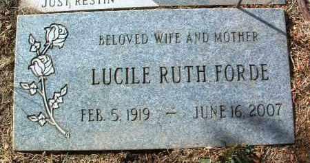 FORDE, LUCILE RUTH - Yavapai County, Arizona | LUCILE RUTH FORDE - Arizona Gravestone Photos