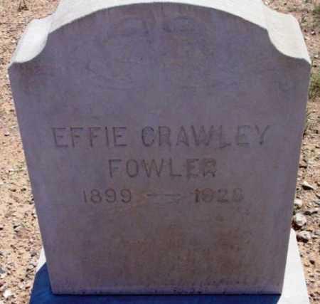 FOWLER, EFFIE - Yavapai County, Arizona | EFFIE FOWLER - Arizona Gravestone Photos