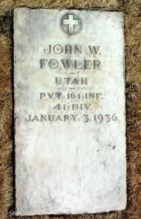 FOWLER, JOHN WALTER - Yavapai County, Arizona | JOHN WALTER FOWLER - Arizona Gravestone Photos