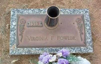 FOWLER, VIRGINIA F. - Yavapai County, Arizona | VIRGINIA F. FOWLER - Arizona Gravestone Photos
