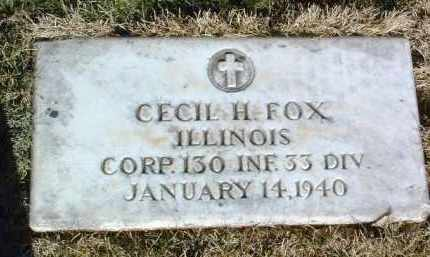 FOX, CECIL HELMER - Yavapai County, Arizona   CECIL HELMER FOX - Arizona Gravestone Photos