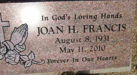FRANCIS, JOAN H. - Yavapai County, Arizona | JOAN H. FRANCIS - Arizona Gravestone Photos