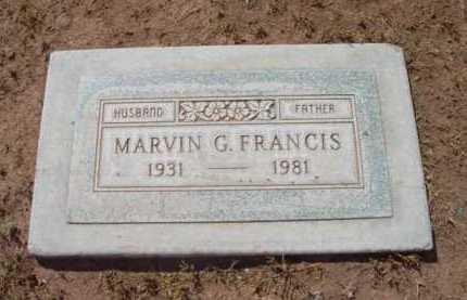 FRANCIS, MARVIN G. - Yavapai County, Arizona | MARVIN G. FRANCIS - Arizona Gravestone Photos