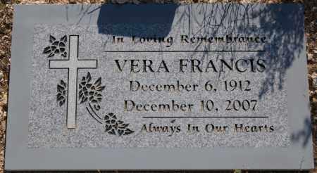 FRANCIS, VERA - Yavapai County, Arizona | VERA FRANCIS - Arizona Gravestone Photos