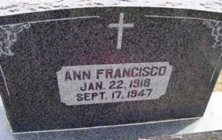 FRANCISCO, ANN FRANCES - Yavapai County, Arizona   ANN FRANCES FRANCISCO - Arizona Gravestone Photos