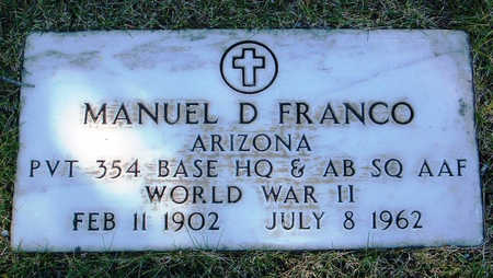FRANCO, MANUEL D. - Yavapai County, Arizona | MANUEL D. FRANCO - Arizona Gravestone Photos