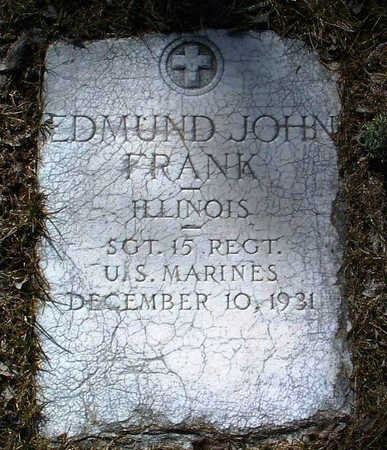 FRANK, EDMUND JOHN - Yavapai County, Arizona | EDMUND JOHN FRANK - Arizona Gravestone Photos