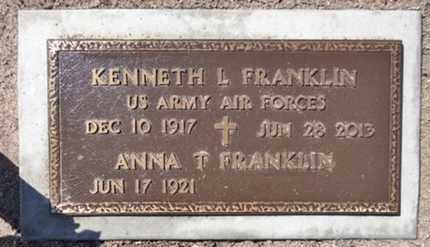 FRANKLIN, KENNETH LEROY - Yavapai County, Arizona   KENNETH LEROY FRANKLIN - Arizona Gravestone Photos