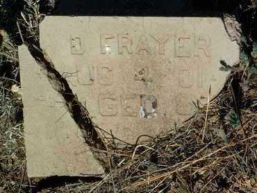 FRAYER / FRARY, DAVID WILSON - Yavapai County, Arizona | DAVID WILSON FRAYER / FRARY - Arizona Gravestone Photos