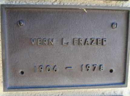 FRAZEE, VERN L. - Yavapai County, Arizona | VERN L. FRAZEE - Arizona Gravestone Photos