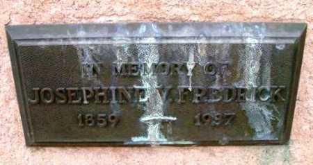 FREDRICK, JOSEPHINE V. - Yavapai County, Arizona   JOSEPHINE V. FREDRICK - Arizona Gravestone Photos
