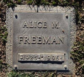 FREEMAN, ALICE MAE - Yavapai County, Arizona | ALICE MAE FREEMAN - Arizona Gravestone Photos