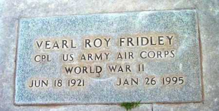 FRIDLEY, VEARL ROY - Yavapai County, Arizona | VEARL ROY FRIDLEY - Arizona Gravestone Photos