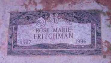 FRITCHMAN, ROSE MARIE - Yavapai County, Arizona | ROSE MARIE FRITCHMAN - Arizona Gravestone Photos