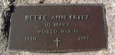 FRITZ, BETTE ANN - Yavapai County, Arizona | BETTE ANN FRITZ - Arizona Gravestone Photos