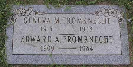 FROMKNECHT, GENEVA M. - Yavapai County, Arizona   GENEVA M. FROMKNECHT - Arizona Gravestone Photos