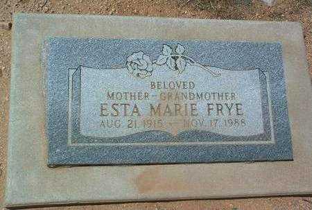 DEAN FRYE, ESTA MARIE - Yavapai County, Arizona | ESTA MARIE DEAN FRYE - Arizona Gravestone Photos